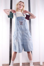 Load image into Gallery viewer, Vintage 90s RARE Mickey Mouse Disney Short Dungarees. MEDIUM.