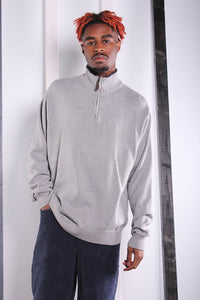 Vintage 90s Grey 1/4 Zip Nautica Jumper / Sweater. LARGE.