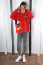 Load image into Gallery viewer, Vintage 90s Disney Mickey Mouse Fleece Sweatshirt / Sweater. LARGE