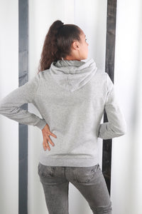 Vintage 90s Grey Nike Hoodie / Hooded Sweater / Sweatshirt. MEDIUM