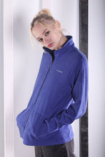 Load image into Gallery viewer, Vintage 90s Blue Zip up Columbia Fleece. SMALL.