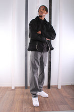 Load image into Gallery viewer, Vintage 90's Black Flying / Pilot Jacket. Shearling Lined. LARGE.