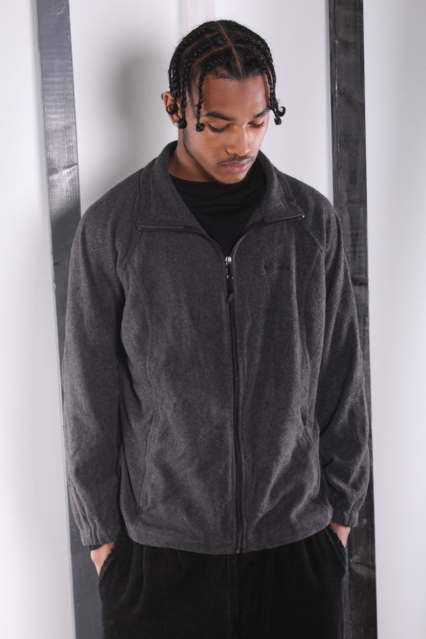 Vintage 90s Grey Zip-Up Columbia Zip-up Fleece. XL.