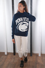 Load image into Gallery viewer, Vintage 90s USA University Print Sweatshirt / Sweater. LARGE.