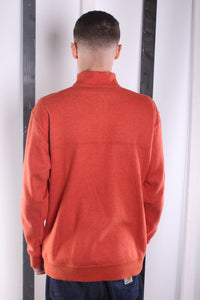 Vintage 90s Rust Columbia 1/4 Zip Sweatshirt / Sweater. MEDIUM.