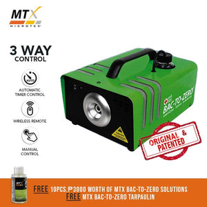 Microtex Bac-to-Zero Machine (Version 2) - Anti-virus Prevention and Odor Sanitizer for Home and Car Interior