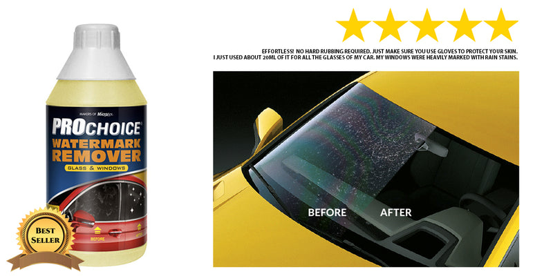Microtex Car Care Prochoice Glass Watermark Acid Rain Stain Remover 1L