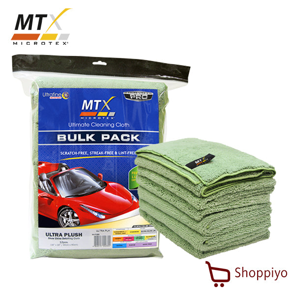 Microtex (MTX) Super High Density Microfiber Cloth Bulk Pack Ultra Plush Set of 12