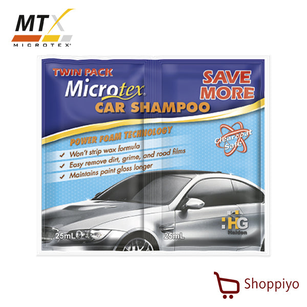 Microtex Car Shampoo Twin Pack 50ml