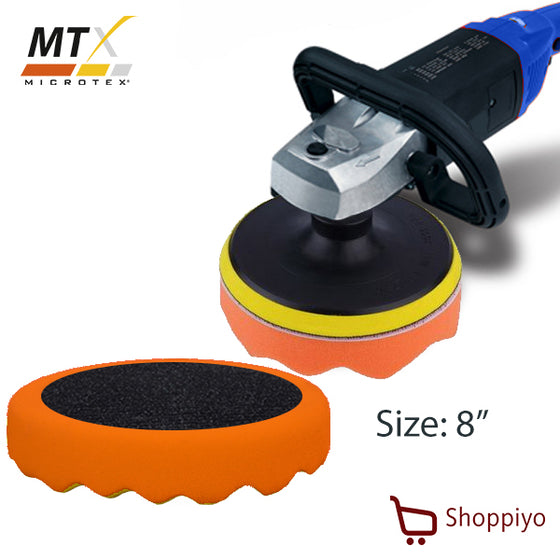 Microtex MA-PP8W Polishing Pad 8 inch Waffle (Orange )
