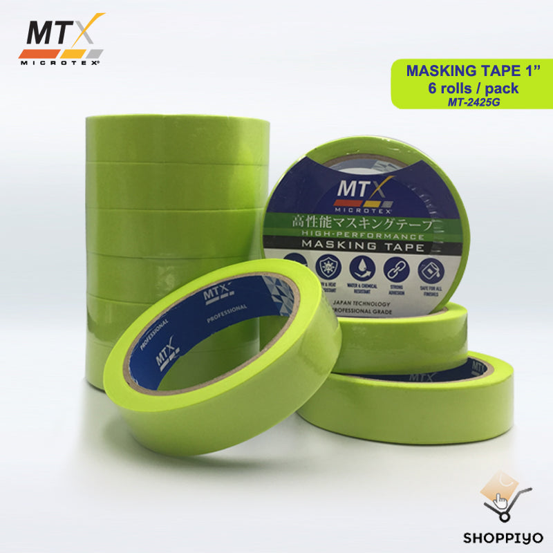 "Microtex High Performance All in One Masking Tape 1"" 6 Rolls (24mm)"