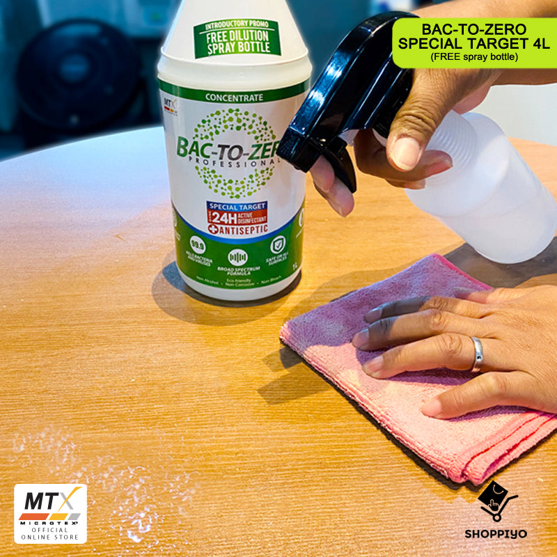 Microtex MTX Bac To Zero Special Target Antiseptic Disinfectant 1L with Free Spray Bottle MA-BZST1000