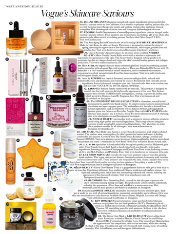 Vegan Skincare Set by Lux Glow Skin Care featured in Vogue UK, February 2021