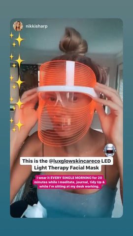 @NikkiSharp Shares Her Daily Routine Using The LED Mask