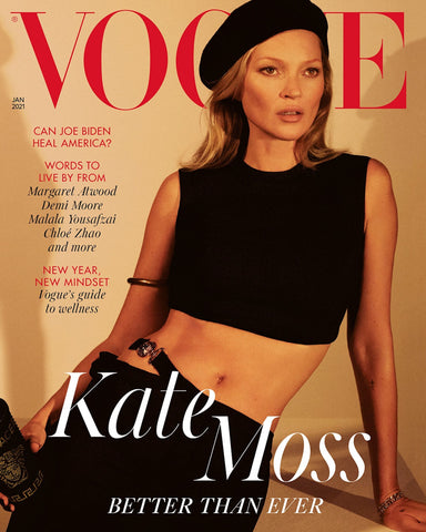 Kate Moss Covers the January 2021 Issue of Vogue UK