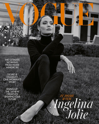 Angelina Jolie Covers The March Issue Of British Vogue