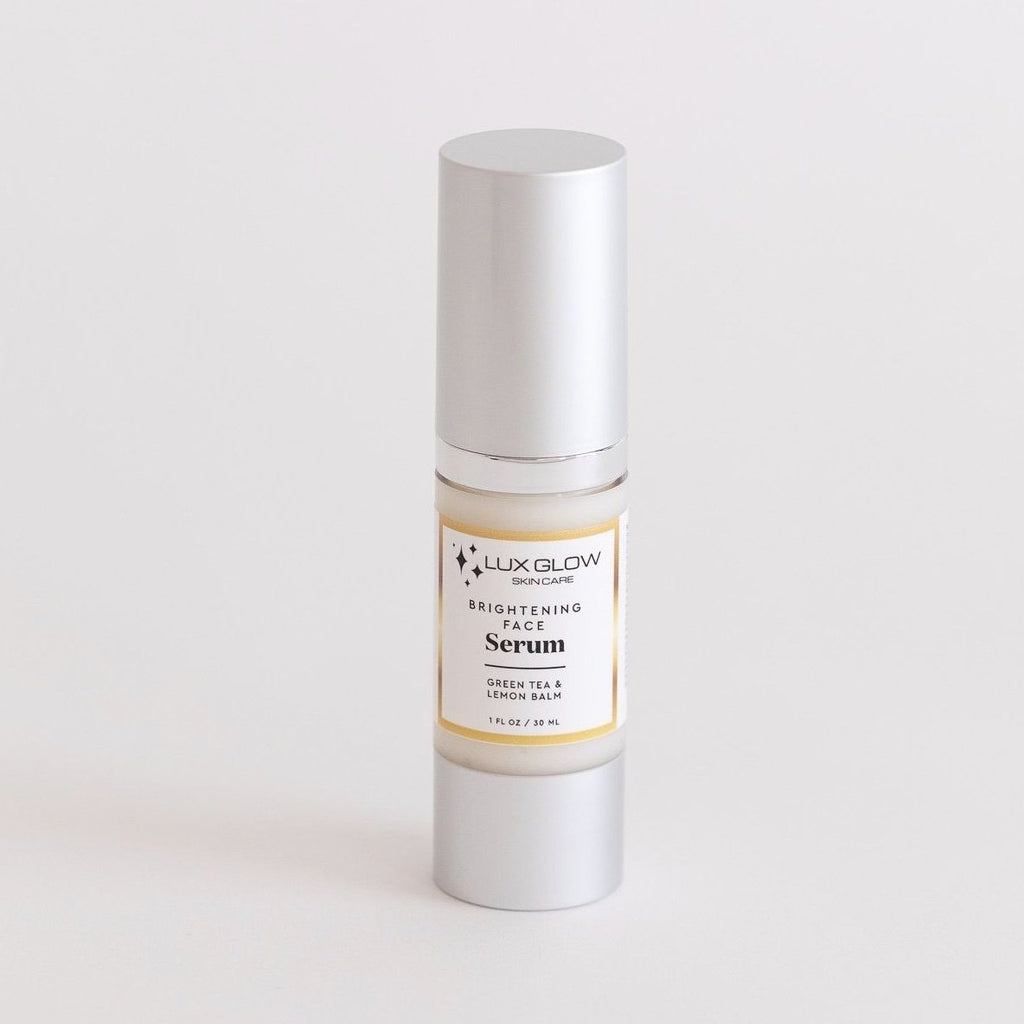 Maintain a hydrated, fresh look with the Brightening Face Serum featuring moisturizing and calming ingredients like Jojoba, Mallow, Primrose and other botanical extracts. This high-tech gel resurfaces appearance of dull, congested skin, gently lifting dead skin cells away by gently dissolving the glue that holds them to the surface. The results are the overall appearance of a tighter, clearer, smoother, and more even-toned complexion.
