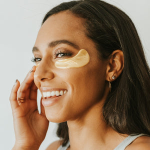 These 24k Gold Collagen Powder Eye Masks are the final touch for glowing skin. We use only plant-based collagen, vitamin C, rose oil, and hyaluronic acid in formulating these fragrance-free, firming, and hydrating under eye patches! The perfect accessory for your accessories! Just apply before or after using the mask, or anytime during the day that you have 20 minutes to give your skin.
