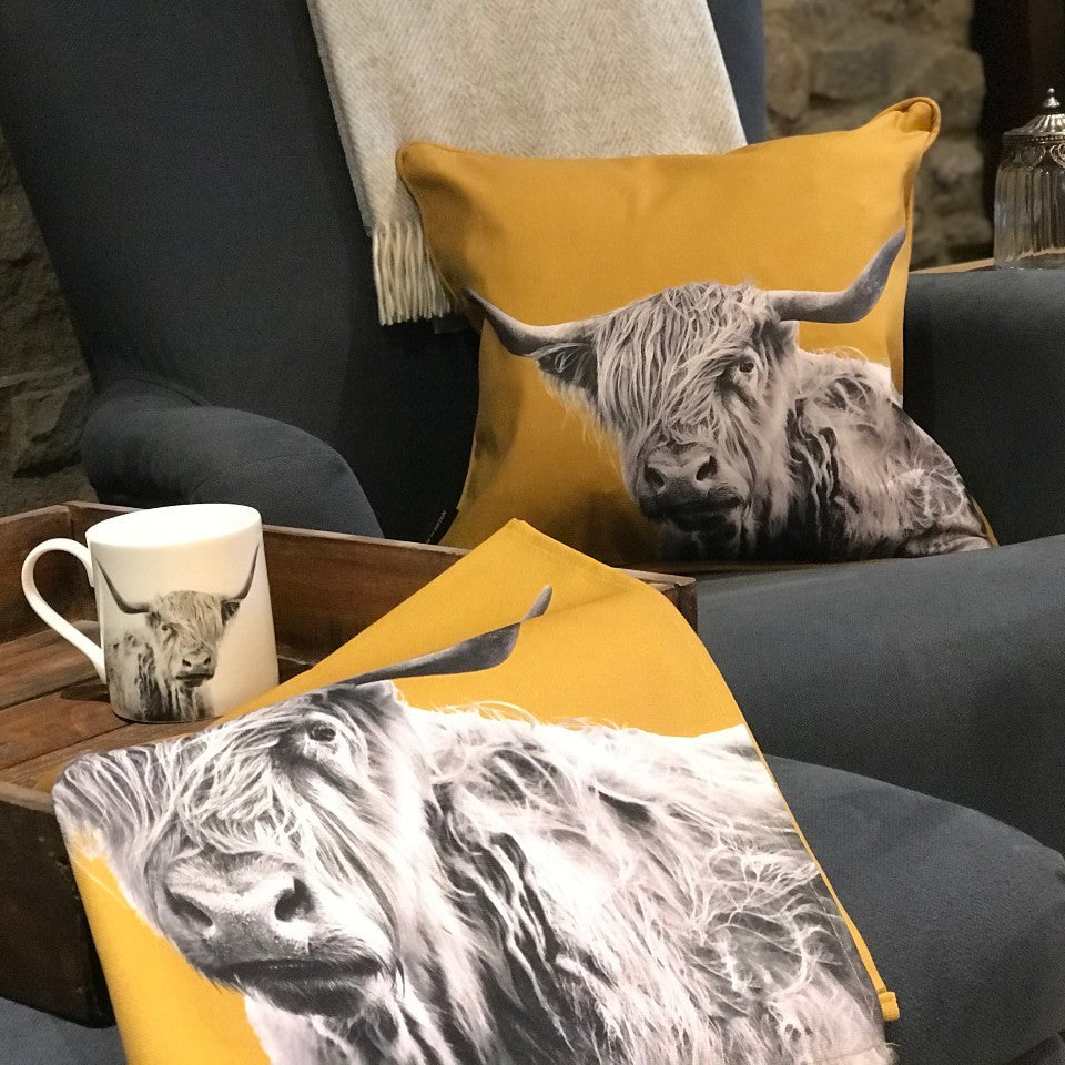 Highland Cow Homewares Collection - Ochre
