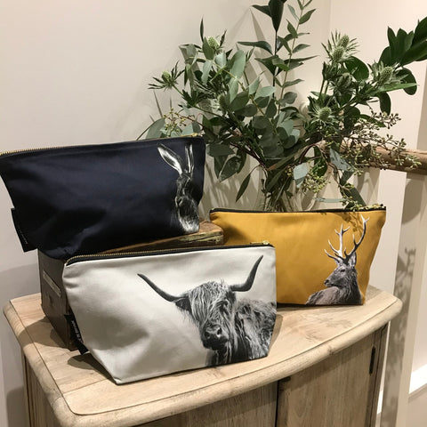 Scotland Trade Fair - Highland Cow, Stag and Hare Wash Bags