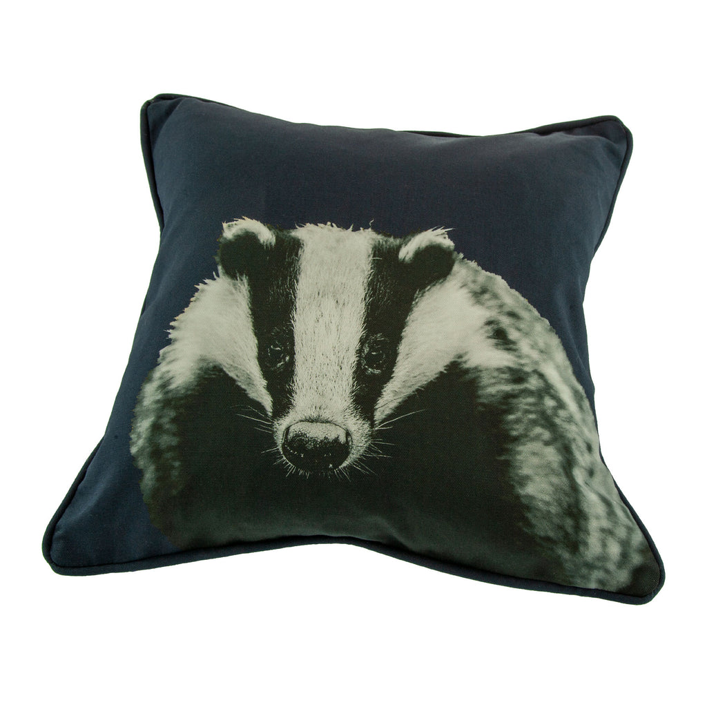 Badger Cushion - Blackberry