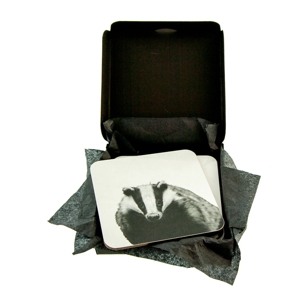 Badger coaster in gift box