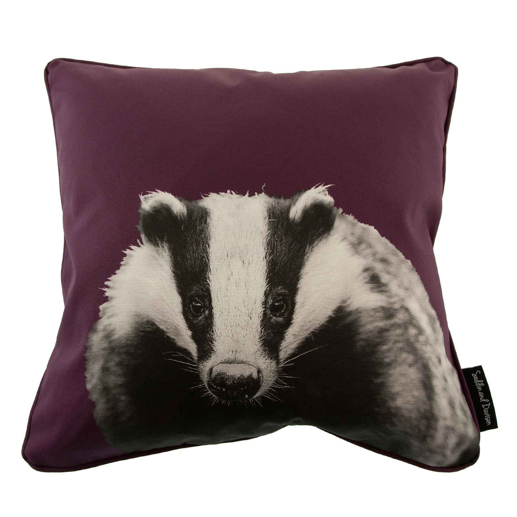 Badger Cushion - Mulberry