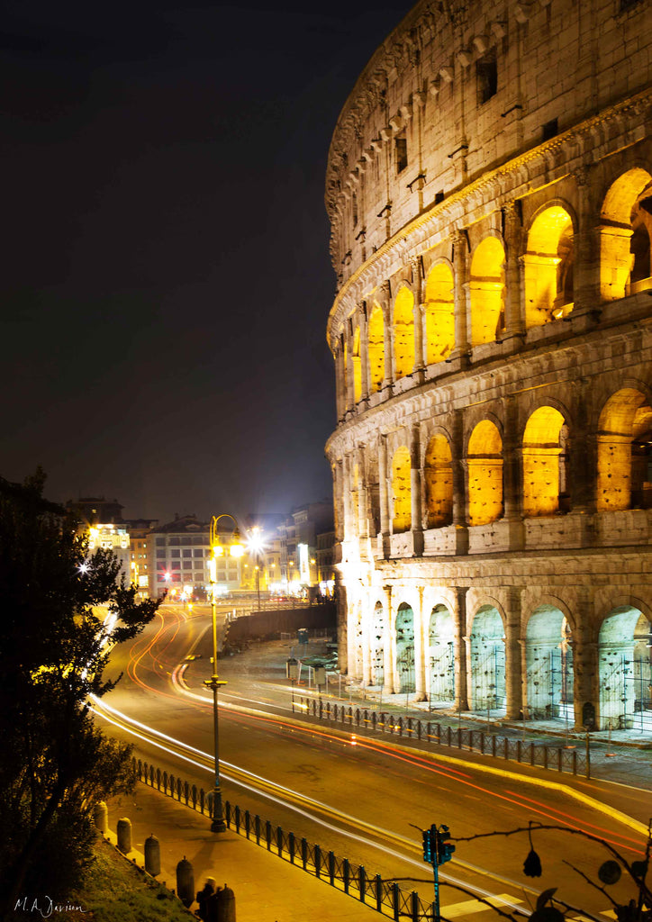Coliseum, Rome, Italy - Print - Photography - Light Trails