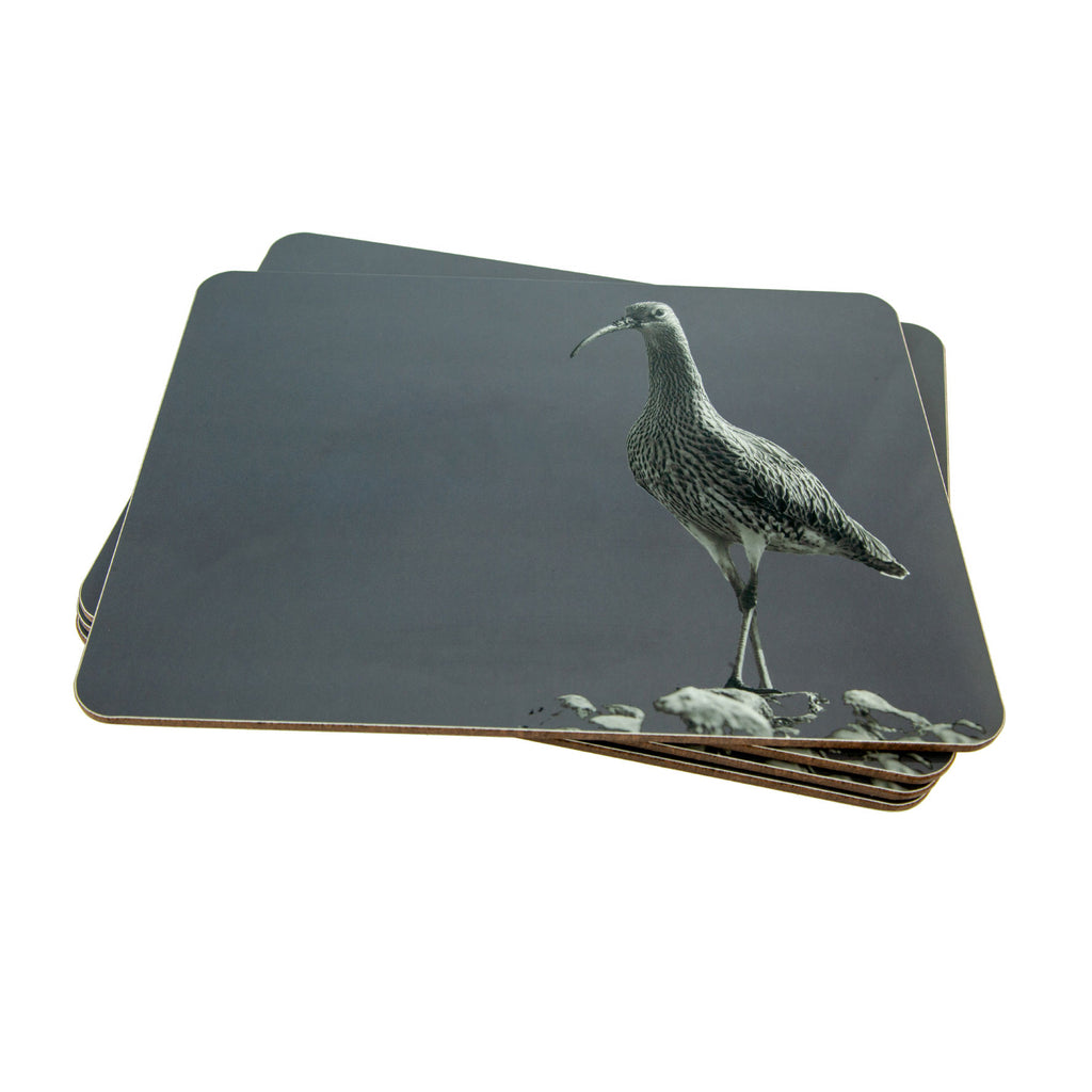 Placemat - curlew - charcoal