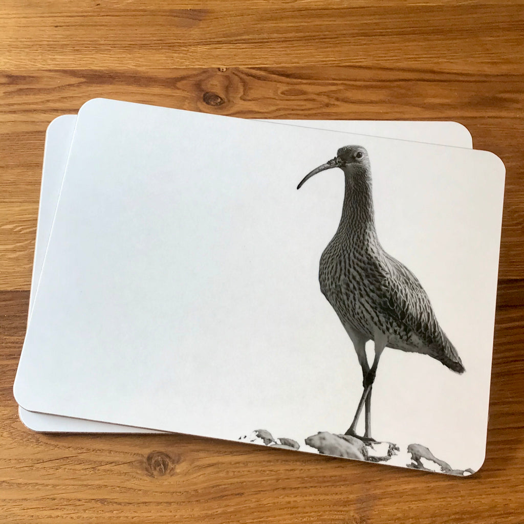 Curlew placemat - white