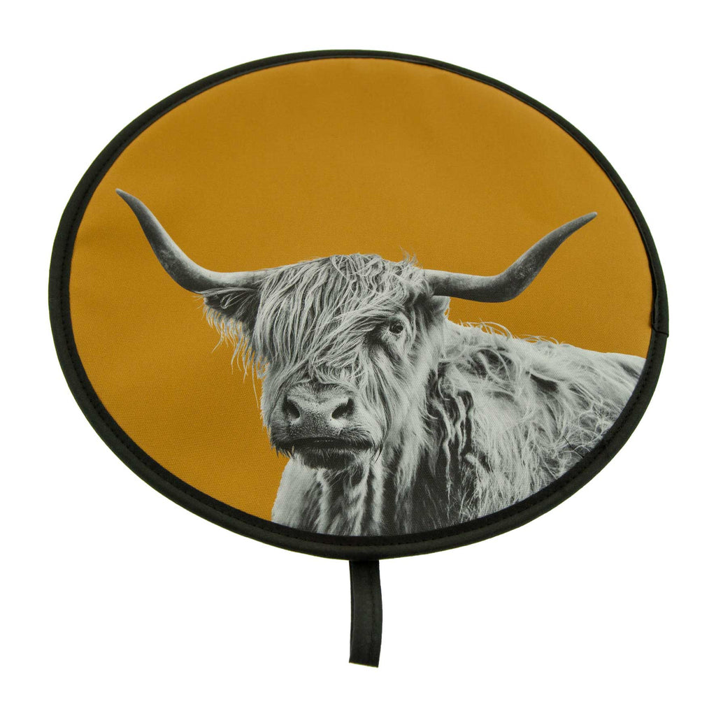 Highland Cow Chefs Pad - Mustard