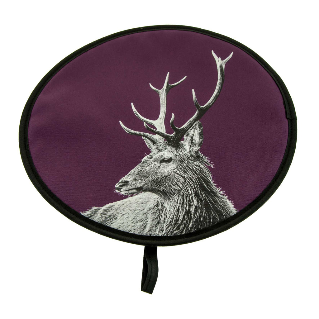 Highland Stag Chefs Pad - Claret