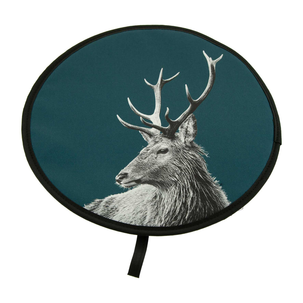 Highland Stag Chefs Pad - Teal Green