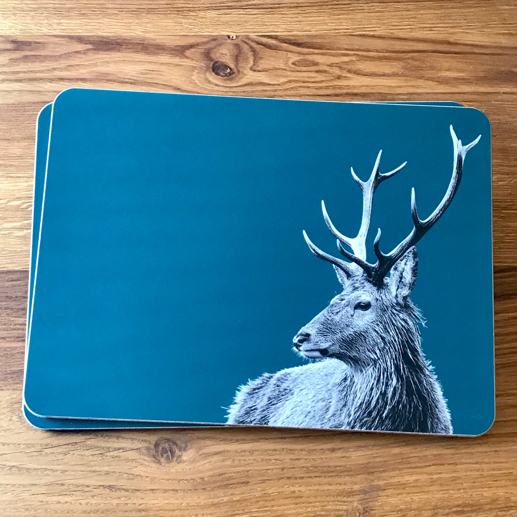 Highland Stag Placemat - Teal