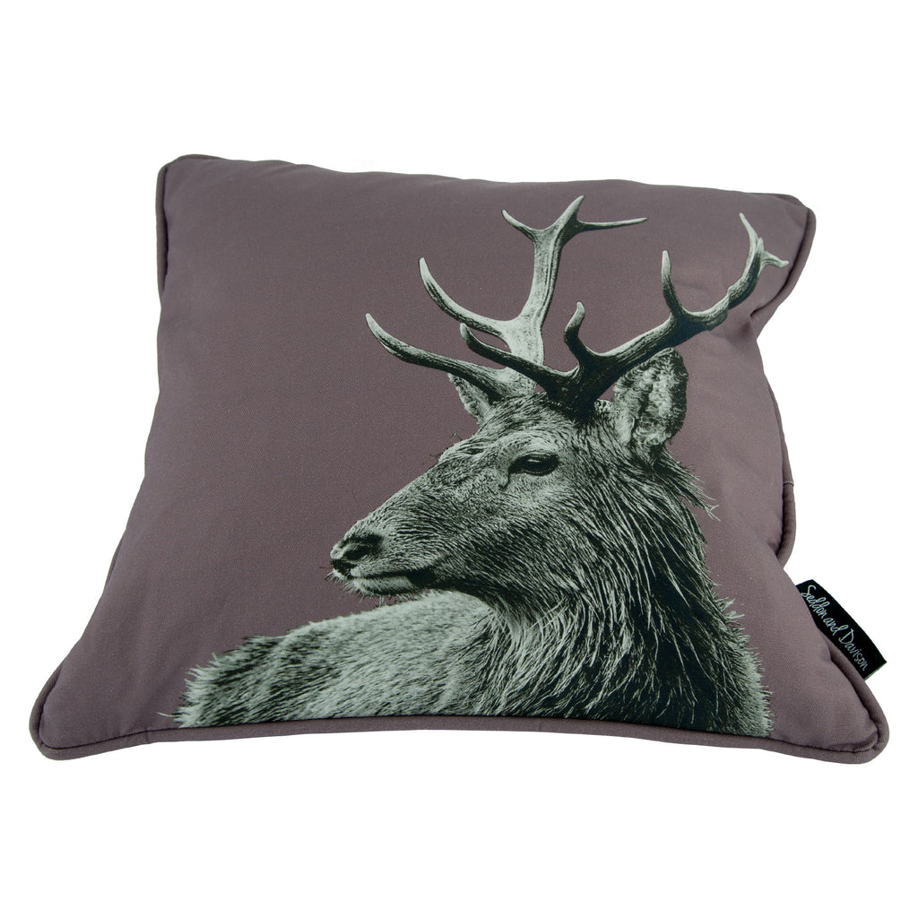 Highland Stag Cushion - Dusky Pink
