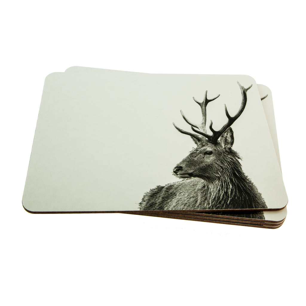 Placemat - Stag - White