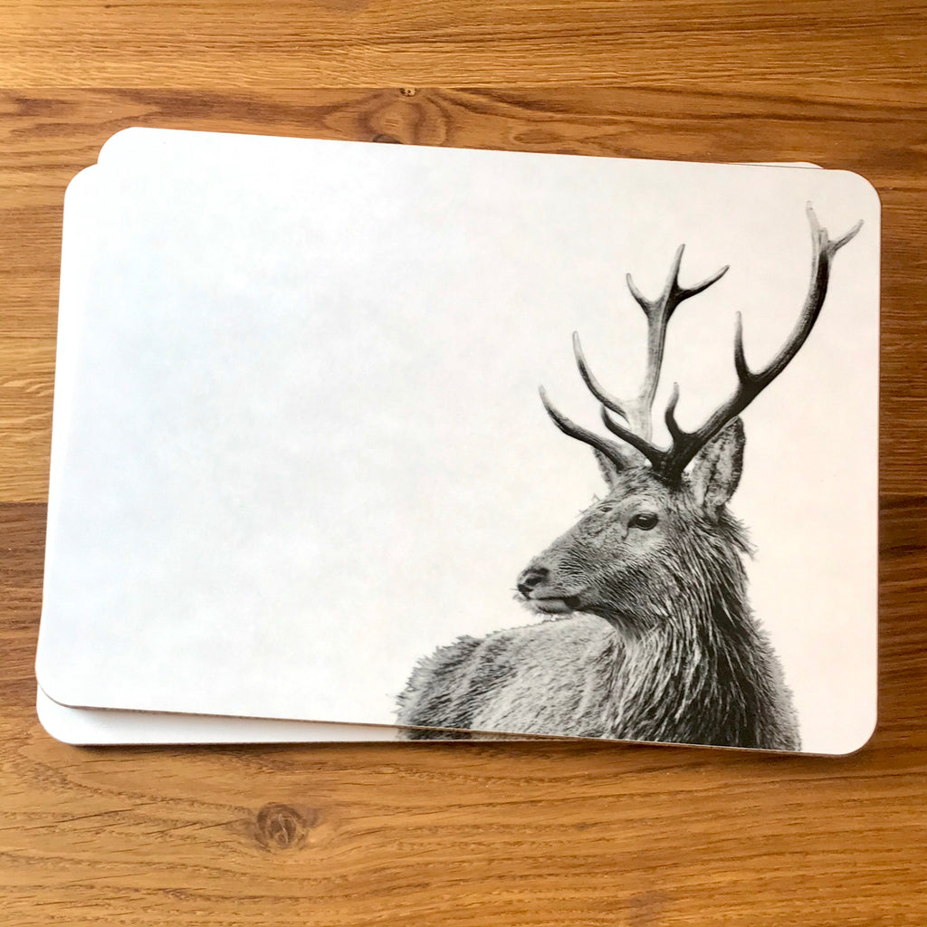Highland Stag Placemat - White
