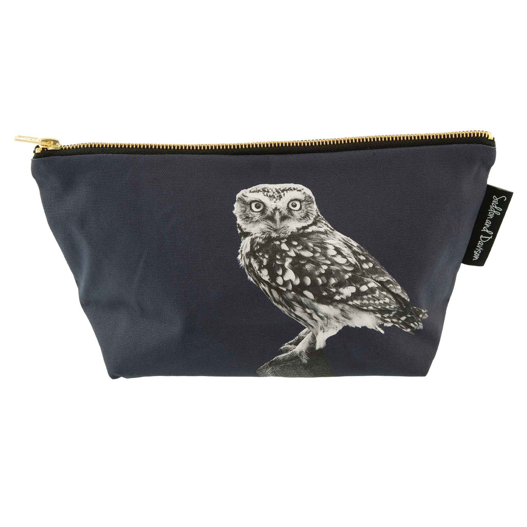 Little Owl Standing Wash Bag - Blackberry