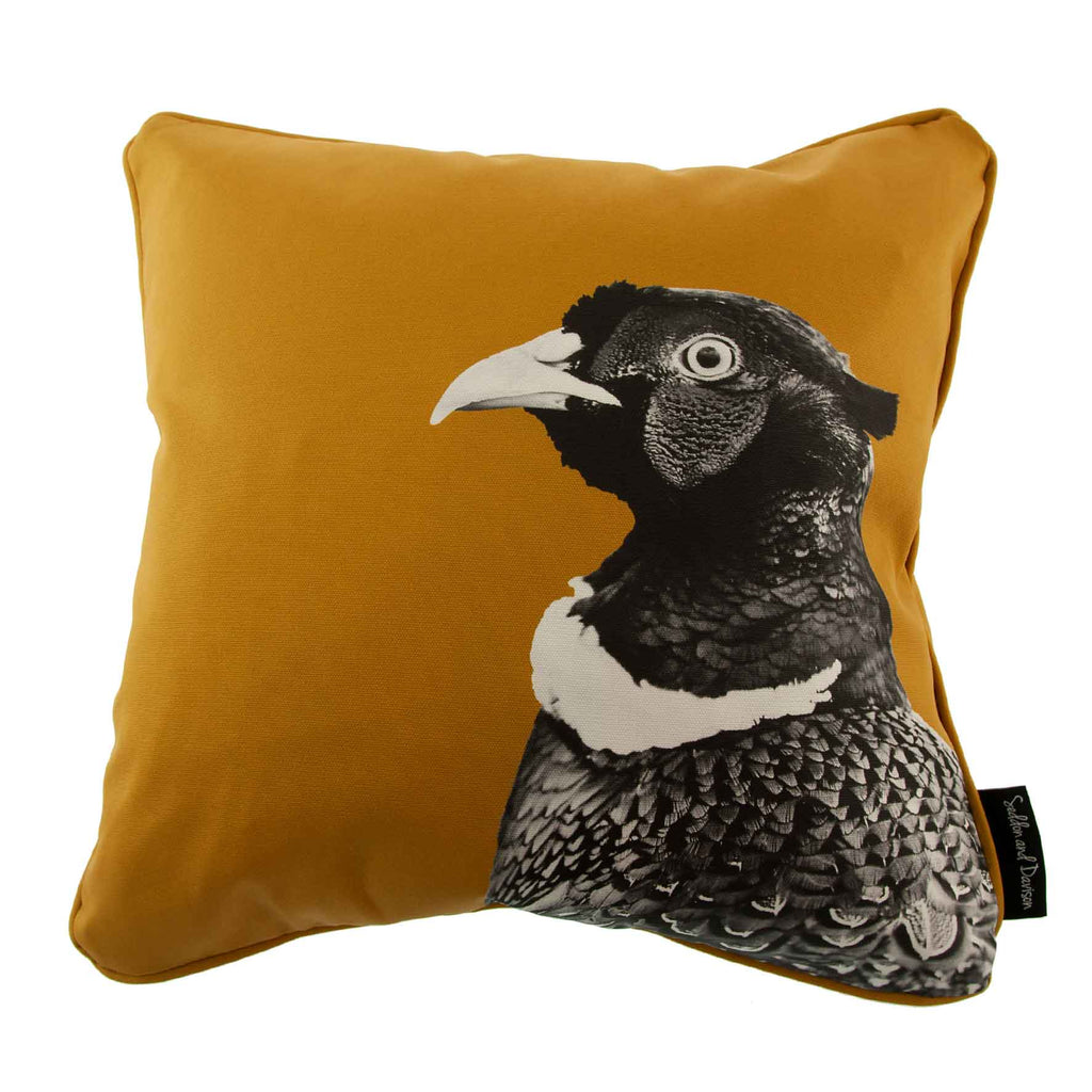 Pheasant Cushion - Ochre