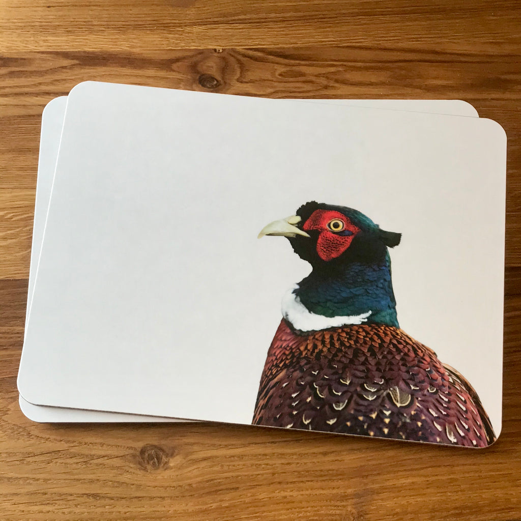 Placemat - pheasant - colour