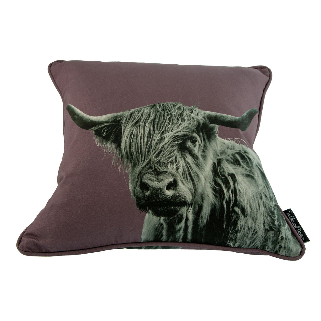 Highland Cow Cushion - Shaggy