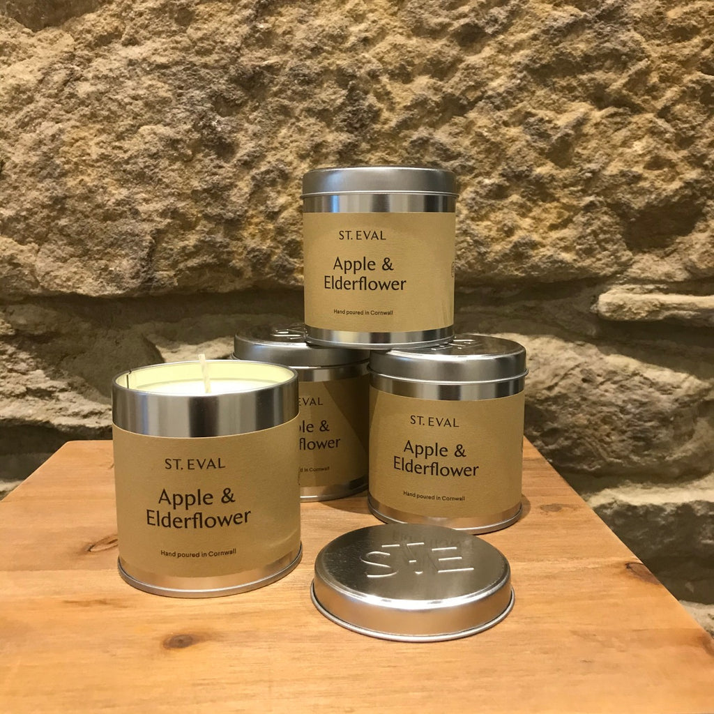 St Eval Apple and Elderflower Candles - Group of Tins
