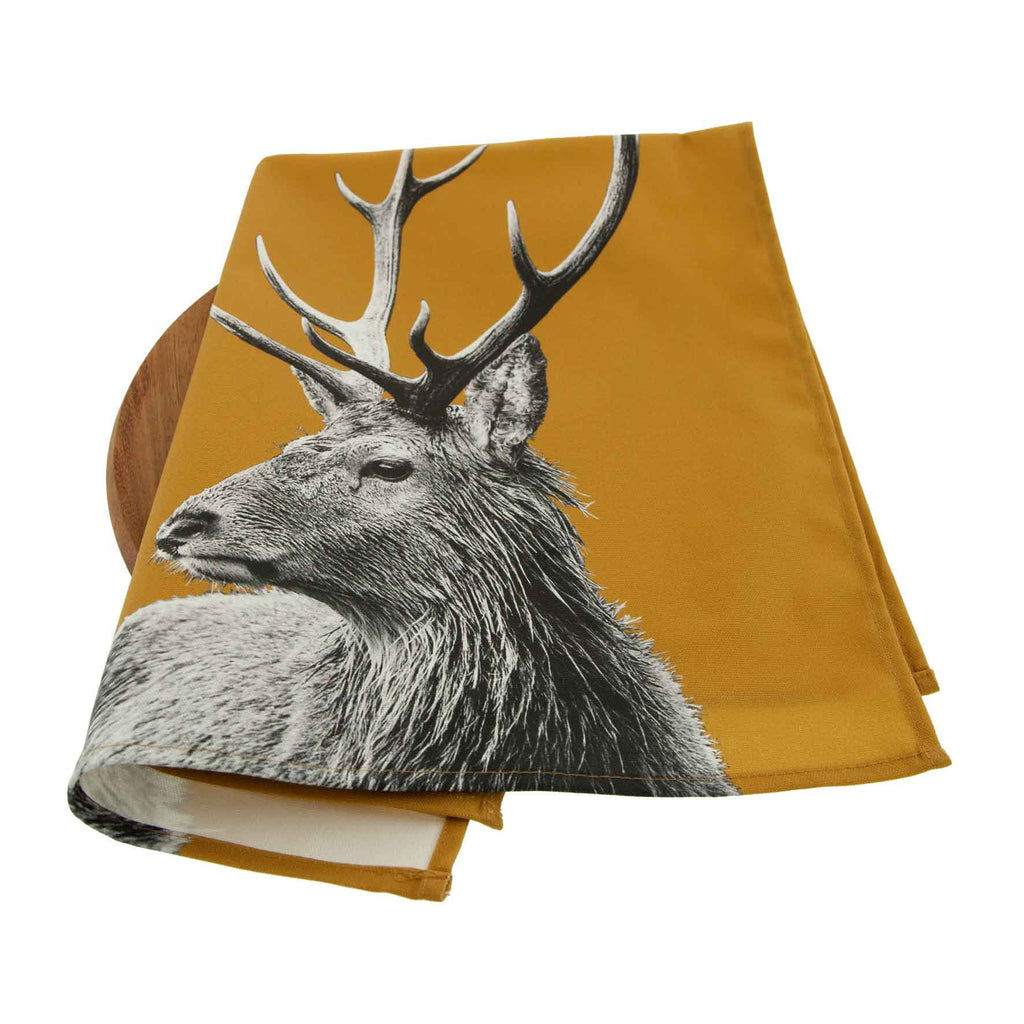 Stag Tea Towel - Ochre