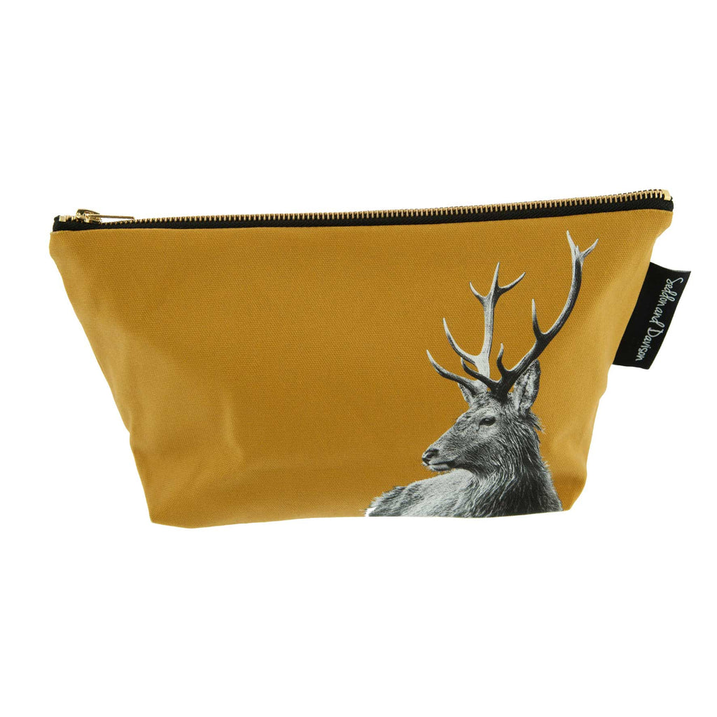 Highland Stag Wash Bag - Ochre