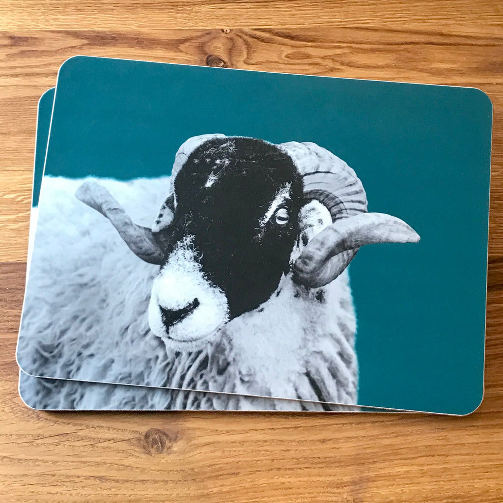 Swaledale Sheep Placemat - Teal