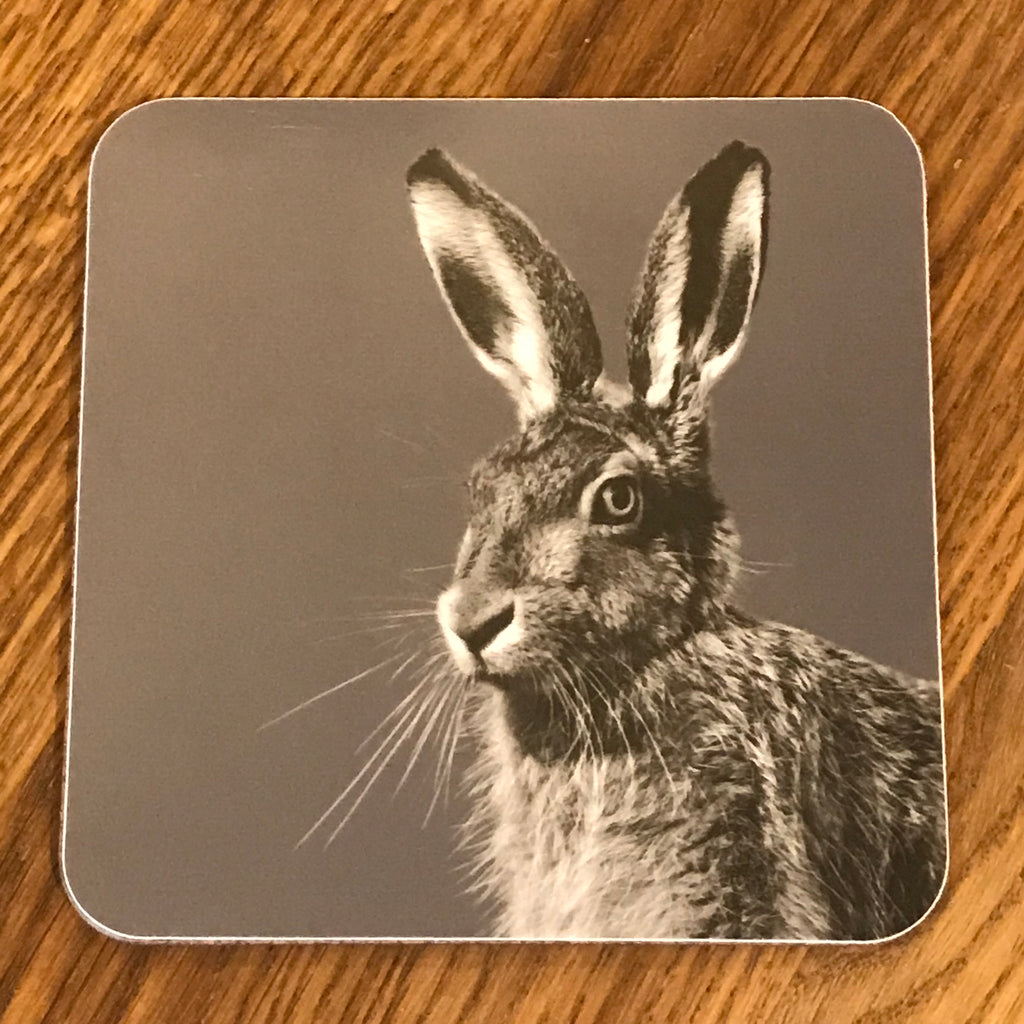 hare coaster charcoal