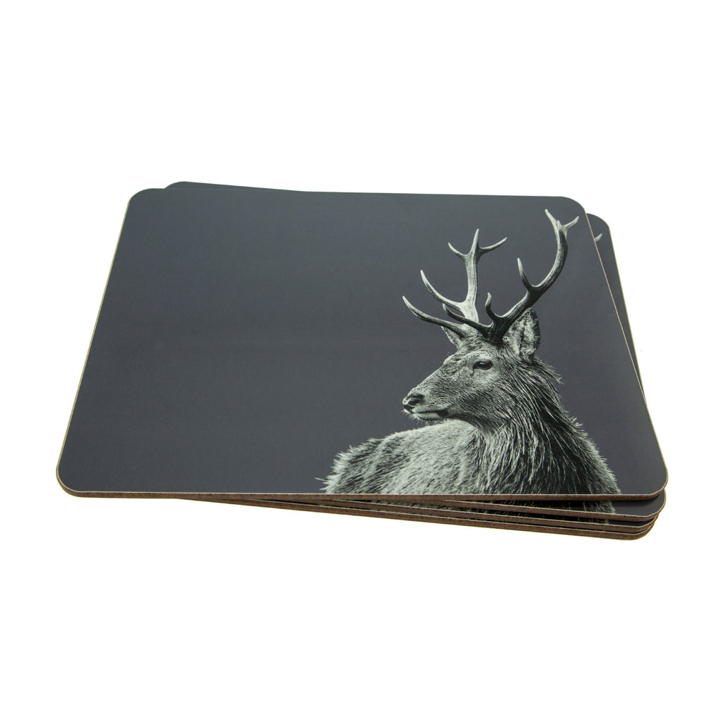 Placemat - Stag - Charcoal