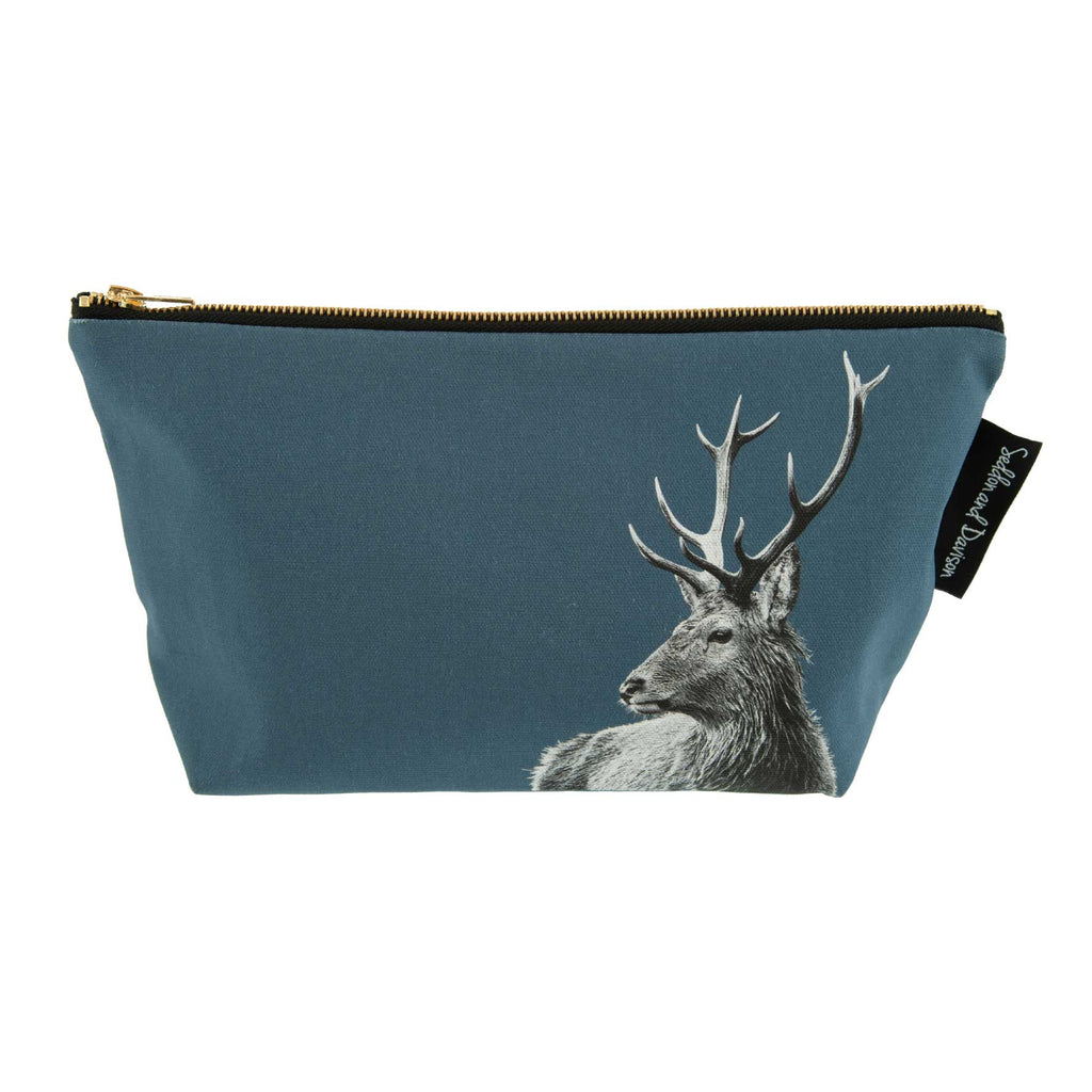 Highland Stag Wash Bag - Steel Blue
