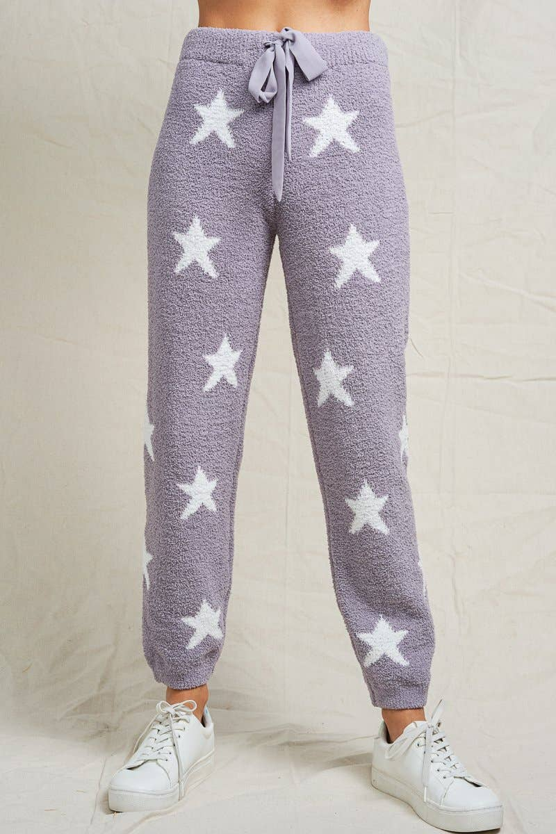 Fuzzy Star Pants