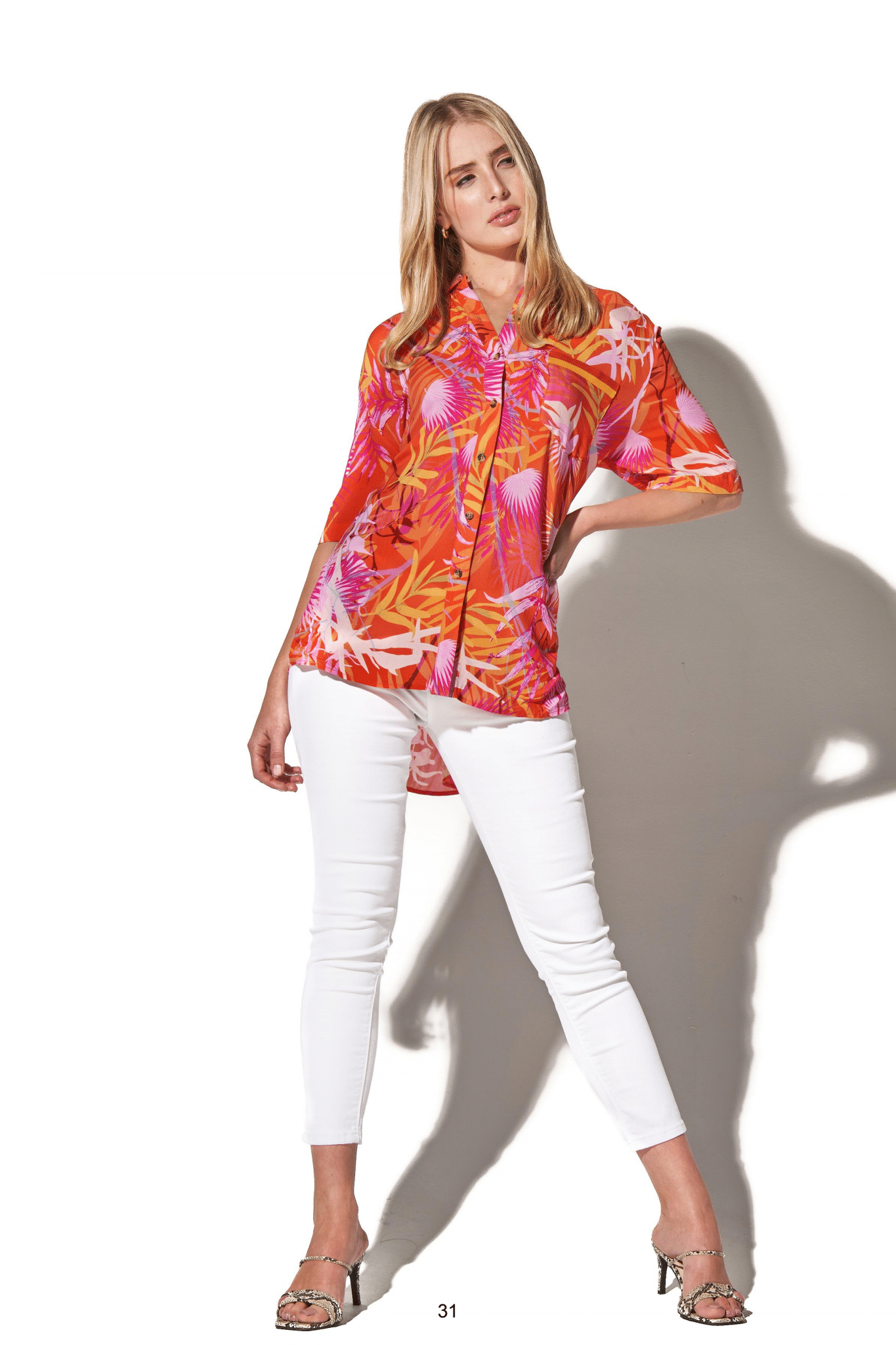 Oversized Tropical Blouse